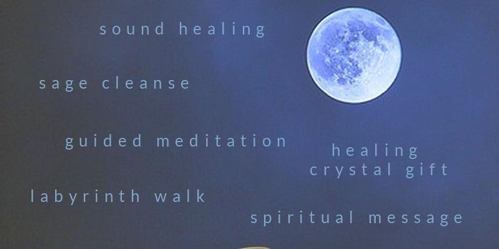 Full Moon Meditation, Labyrinth Walk & Fire Release
