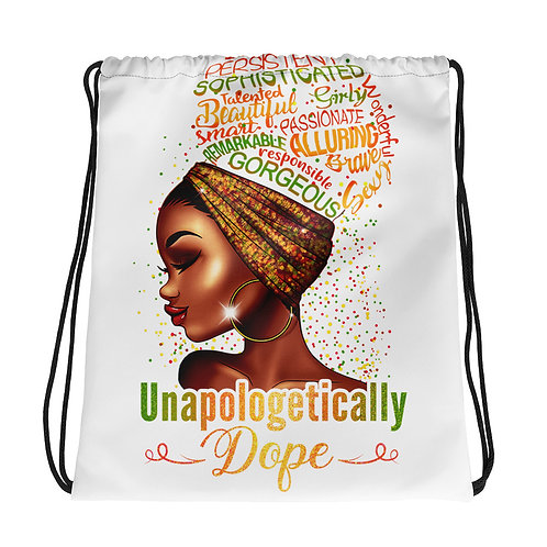 Unapologetically DOPE Drawstring bag