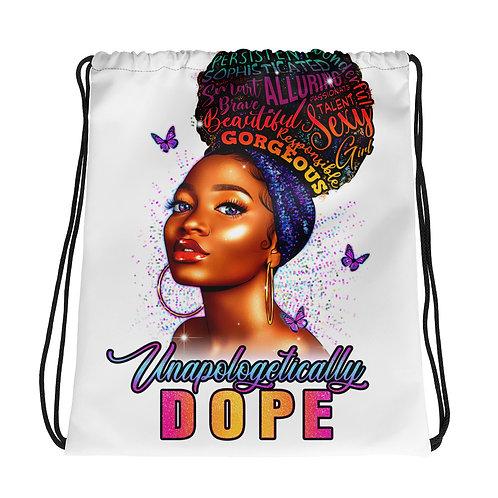 Unapologetically DOPE II Drawstring bag
