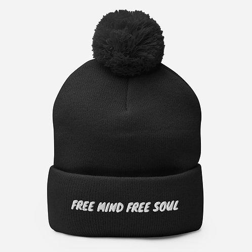 Free Mind Free Soul Pom-Pom Beanie