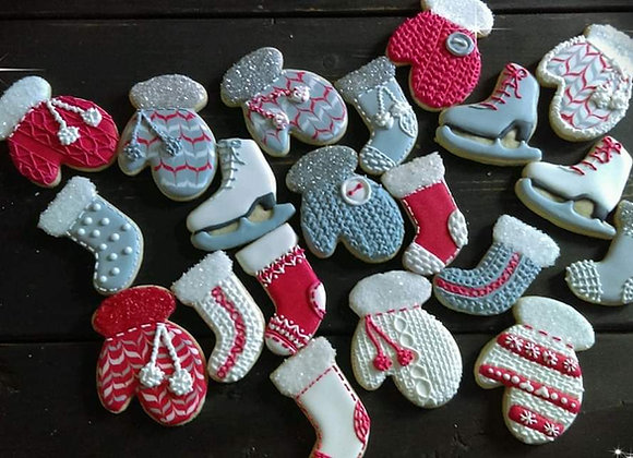 Decorated Cookies - Winter