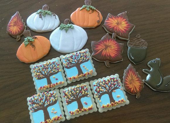 Decorated Cookies - Autumn