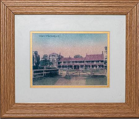 Vintage Postcard of Canoe Place Inn  (framed)