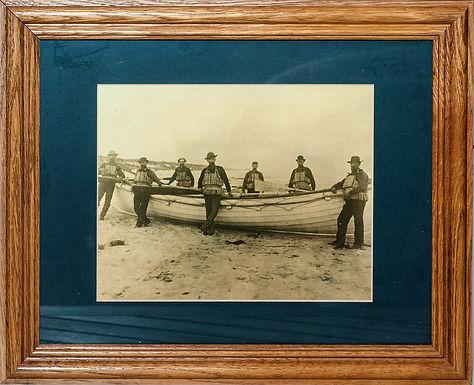 Historic Rescue Boat Crew Photo (framed)