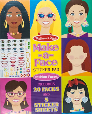 Melissa & Doug Make-A Face Sticker Sheets (2 Books)
