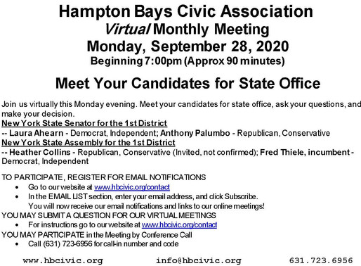 September Meeting-Meet the Candidates