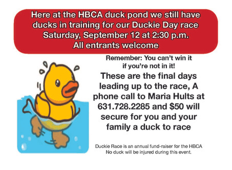 Last Chance to Buy a Duckie!