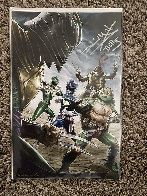 SIGNED BY DAVID YOST Mighty Morphin Power Rangers TMNT #5 Avengers #1