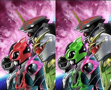 Power Rangers Drakkon New Dawn #2 DBZ Bardock The Father of Goku