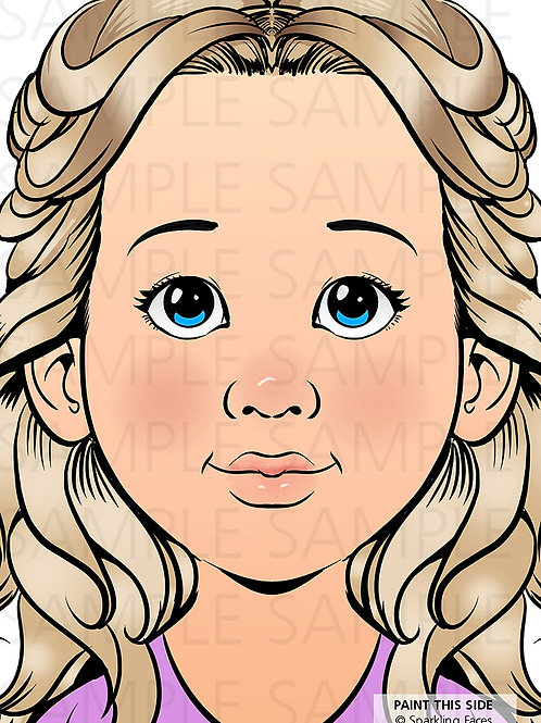 Face Painting Practice Board Sophia