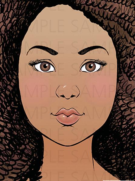 Face Painting Practice Board Tina