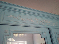 detail patine armoire