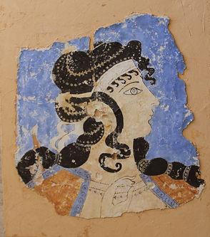 fresque femme crétoise