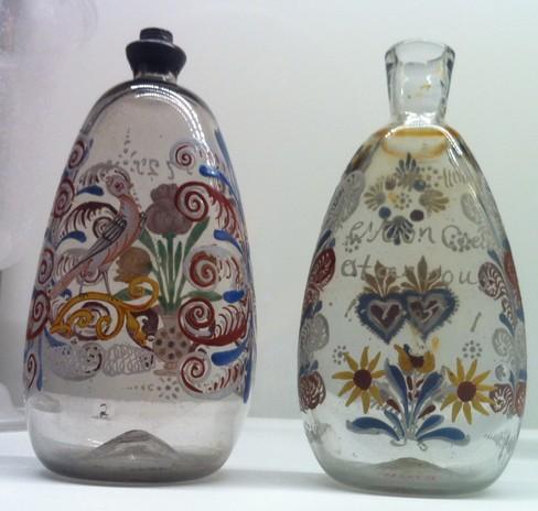 flacons en verre décorés