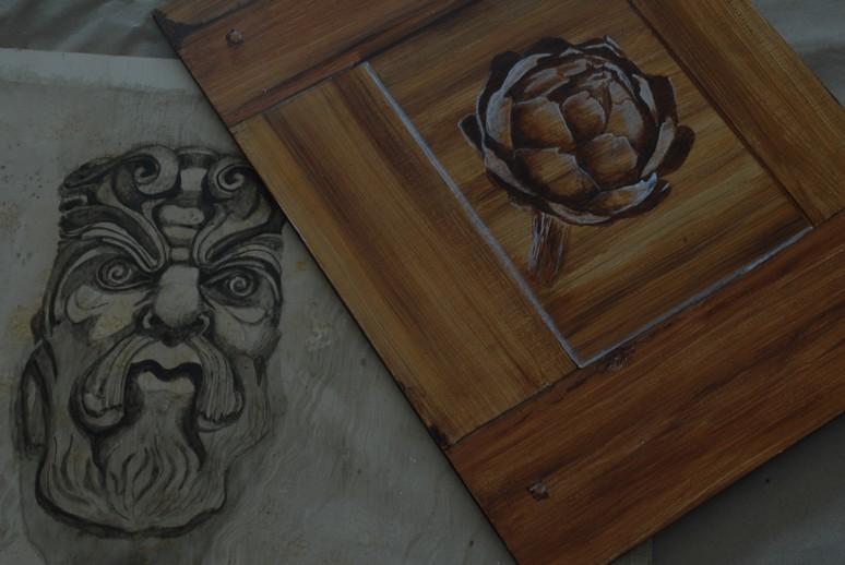 fausses matieres peinture