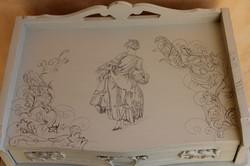 detail table de nuit marquise