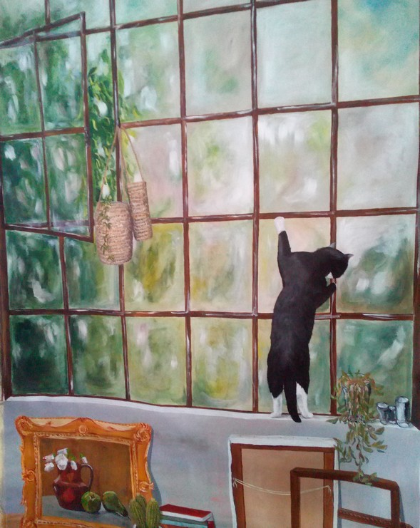 trompe oeil chat