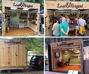 Mobile boutique for art shows, vending, street fairs, trade shows