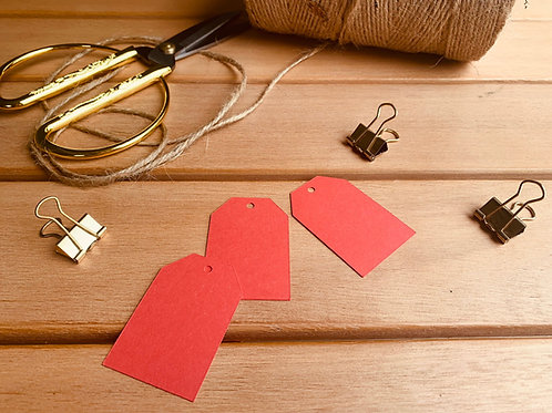Red gift tags - pk of 10