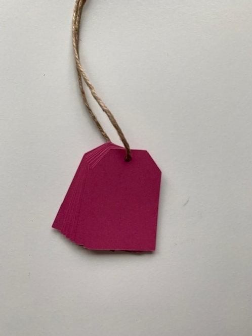 Dark pink gift tags - pk of 10