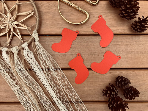 Xmas Stocking Gift Tags 10pk