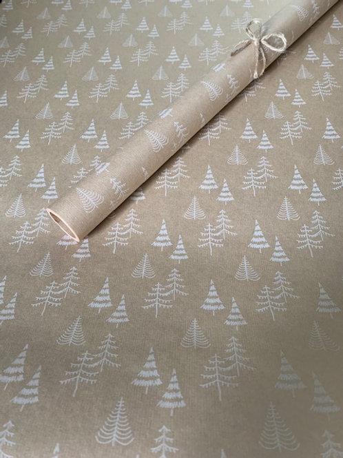 White Xmas Tree 4m Roll