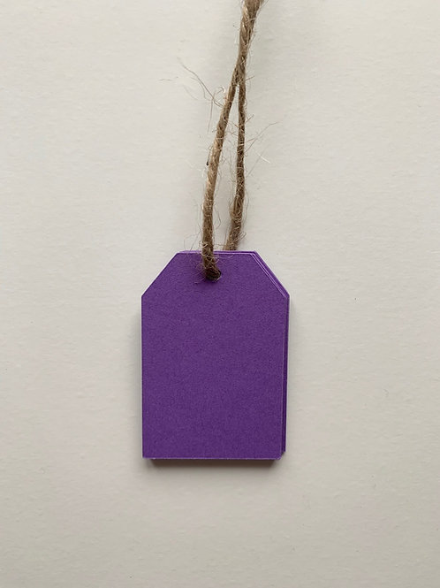 Purple Gift Tags - pk of 10