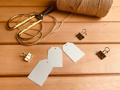 Eco-Craft/ Cream gift tags - pk of 10