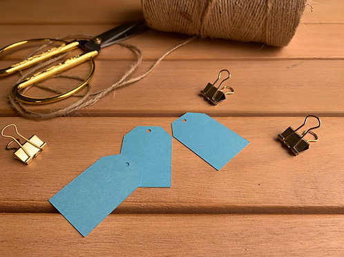 Sky-Blue gift tags - pk of 10