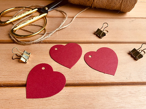 Red Heart Gift Tags - 10 pk