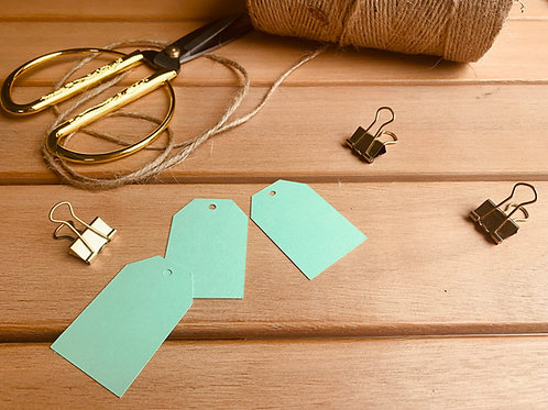 Mint Green Gift Tags - pk of 10