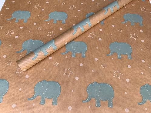 TRADE Baby Blue Elephant 4m Roll