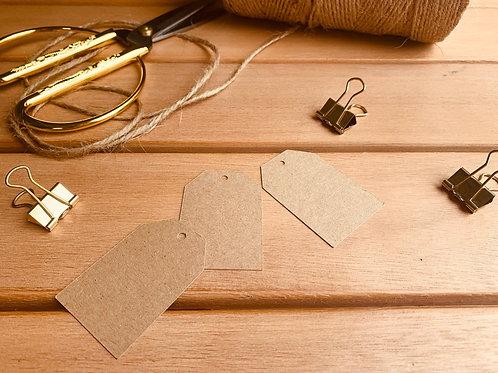 Kraft gift tags - pk of 10