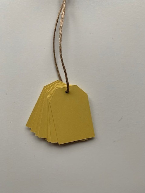 Yellow gift tags - pk of 10pk