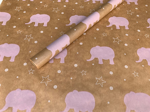 TRADE Baby Pink Elephant 4m Roll
