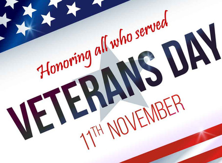In Honor of Veteran's Day, November 11, 2019 - The Dojo is OPEN!
