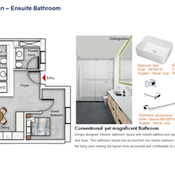 Ensuite Bathroom Floor Plan (2 Bedroom)