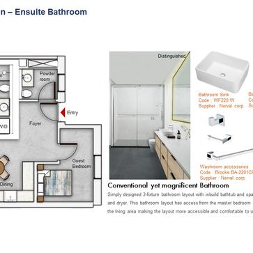 Ensuite Bathroom Floor Plan (2 Bedroom)