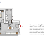Unit Type - 1 Bedroom Floor Plan
