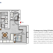 Unit Type - 2 Bedroom Floor Plan