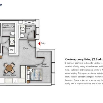 Unit Type - 2 Bedroom Floor Plan