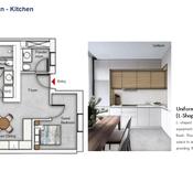Kitchen Floor Plan (2 Bedroom)