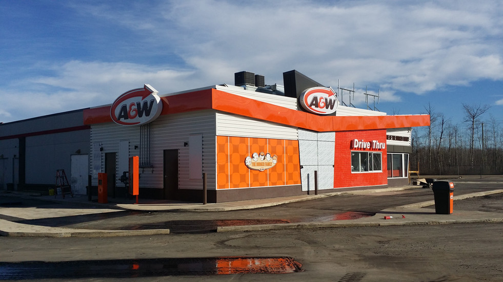 A&W & Husky Gas Station - Wandering River, AB