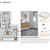 Bathroom Floor Plan (1 Bedroom)