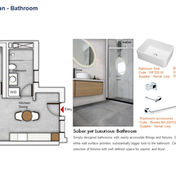 Bathroom Floor Plan (1 Bedroom)