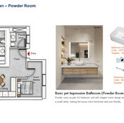 Powder Room Floor Plan (2 Bedroom)