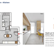 Kitchen Floor Plan (1 Bedroom)
