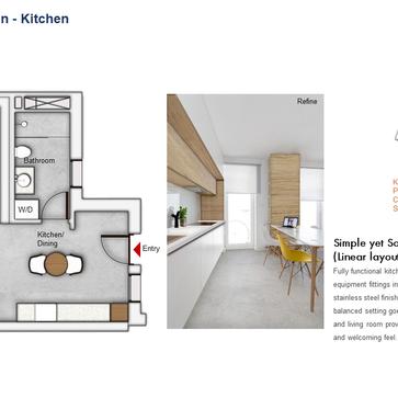 Kitchen Floor Plan (1 Bedroom)