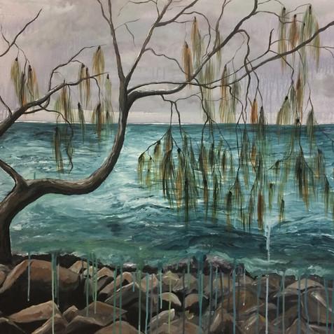 Washed Away - Durangbil, Arakwal Country. Brunswick Heads, NSW