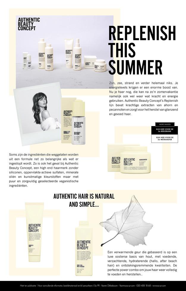 Authentic Beauty Concept Press Release